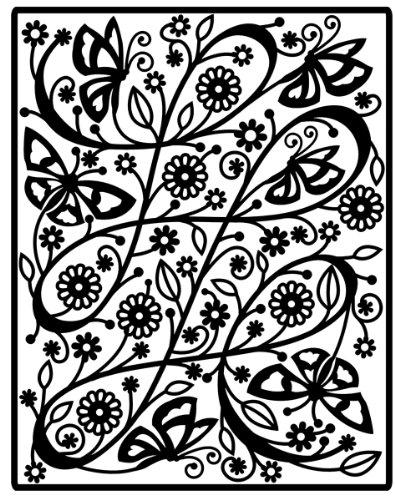 Spellbinders Impressabilities Template to Emboss/Deboss, Butterfly