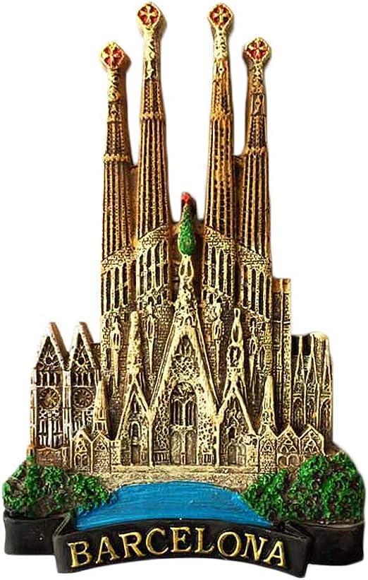 Imán para nevera en 3D, recuerdo de Barcelona España, decoración para el hogar y la cocina, imán para nevera Barcelona España: Amazon.es: Hogar