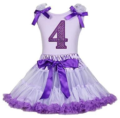 Vestido de cumpleaños Morado 4th Camiseta de algodón de ...