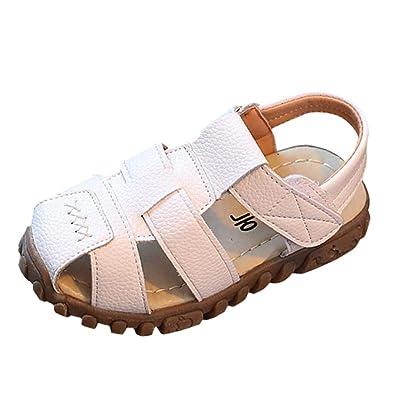 24ac46b749af2 Enfant Sandales et Nu-Pieds en Cuir Artificiel Bébé Chaussure Sandales Bout  Fermé Chaussure d