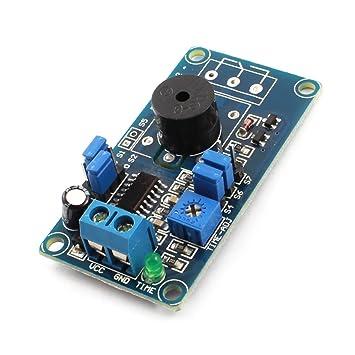 Placa de circuito DC 5V encendido de alarma Tiempo de ...