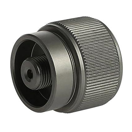 Ulable Universal más seguro adaptador de repuesto de gas propano adaptador de repuesto para estufa de