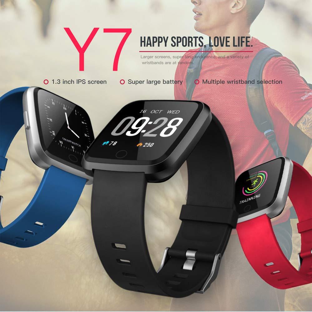 Oasics Fitness Pulsera Smartwatch Impermeable IP68, Smart Watch para Hombre y Mujer, Y7 Bluetooth Smart Watch, frecuencia cardíaca de Pantalla a Color, ...