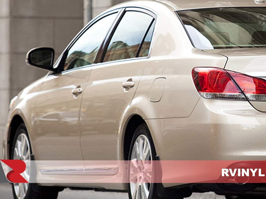 Aluminum Rvinyl Rtrim Pillar Post Decal Trim for Toyota Avalon 2005-2010 Brushed Black