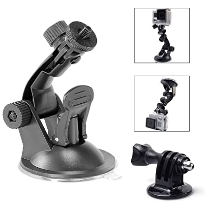 TEKCAM Action Camera Suction Cup Mount Windshield Car Mount for Gopro Hero  6 APEMAN AKASO Crosstour Victure Campark SOOCOO Wimius DBPOWER Rollei QUMOX