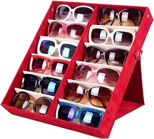 Cxraiy-HO Caja De Almacenamiento De Gafas Estuche de Gafas de Sol Estuche de Almacenamiento de Gafas de Sol Bandeja de Gafas Caja De Almacenamiento De Gafas (Color : Red): Amazon.es: Hogar