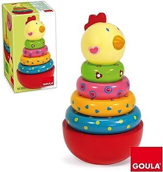 Diset Goula - Apilable gallina, Juego de Habilidad 55210: Amazon.es: Juguetes y juegos