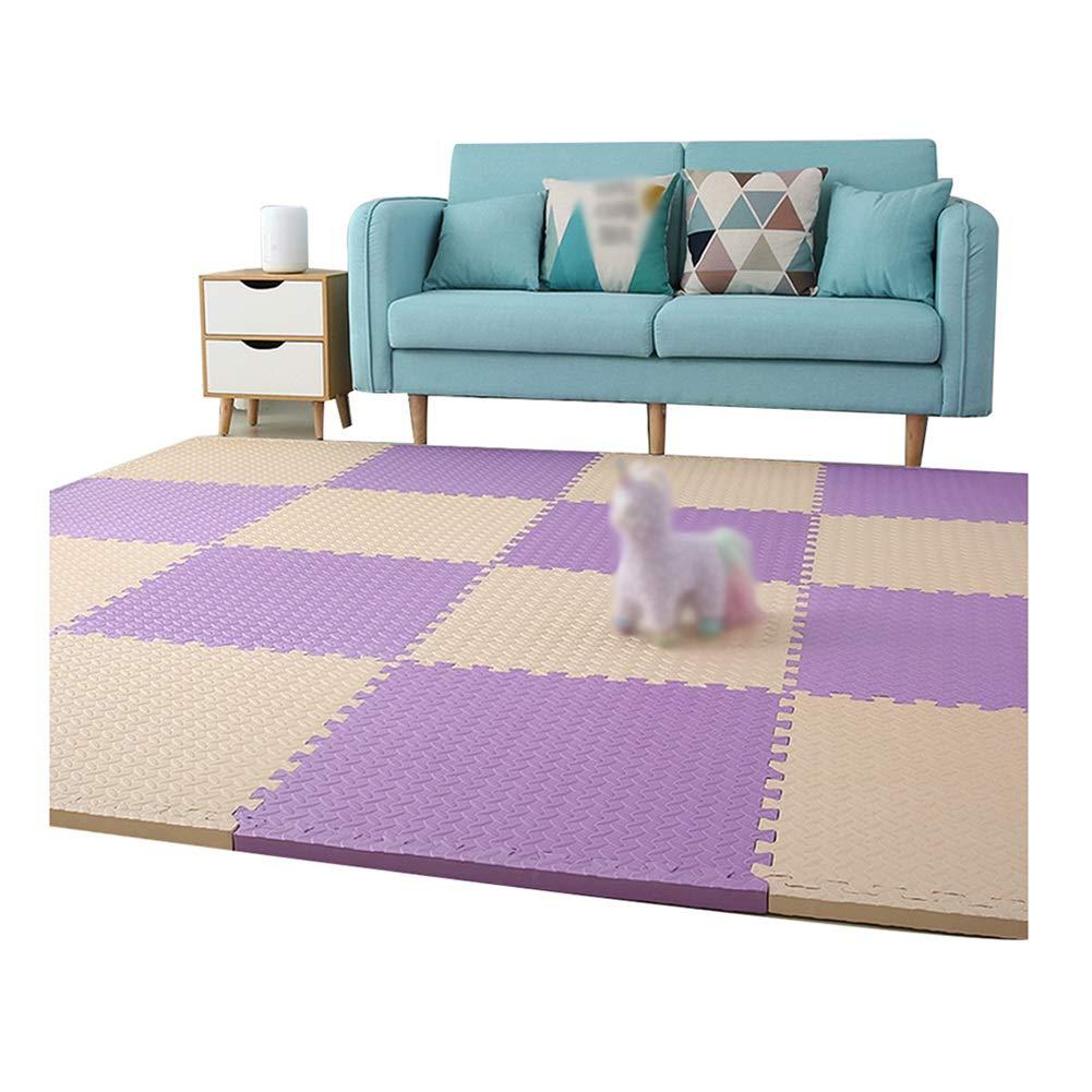 D 24-Tiles AMDHZ Tapis De Sol Et Bébé en Mousse avec Bordure Imperméable Gym Jardin d'enfants, 2,5 Cm D'épaisseur MultiCouleure, 30x30cm (Couleur   C, Taille   32-Tiles)