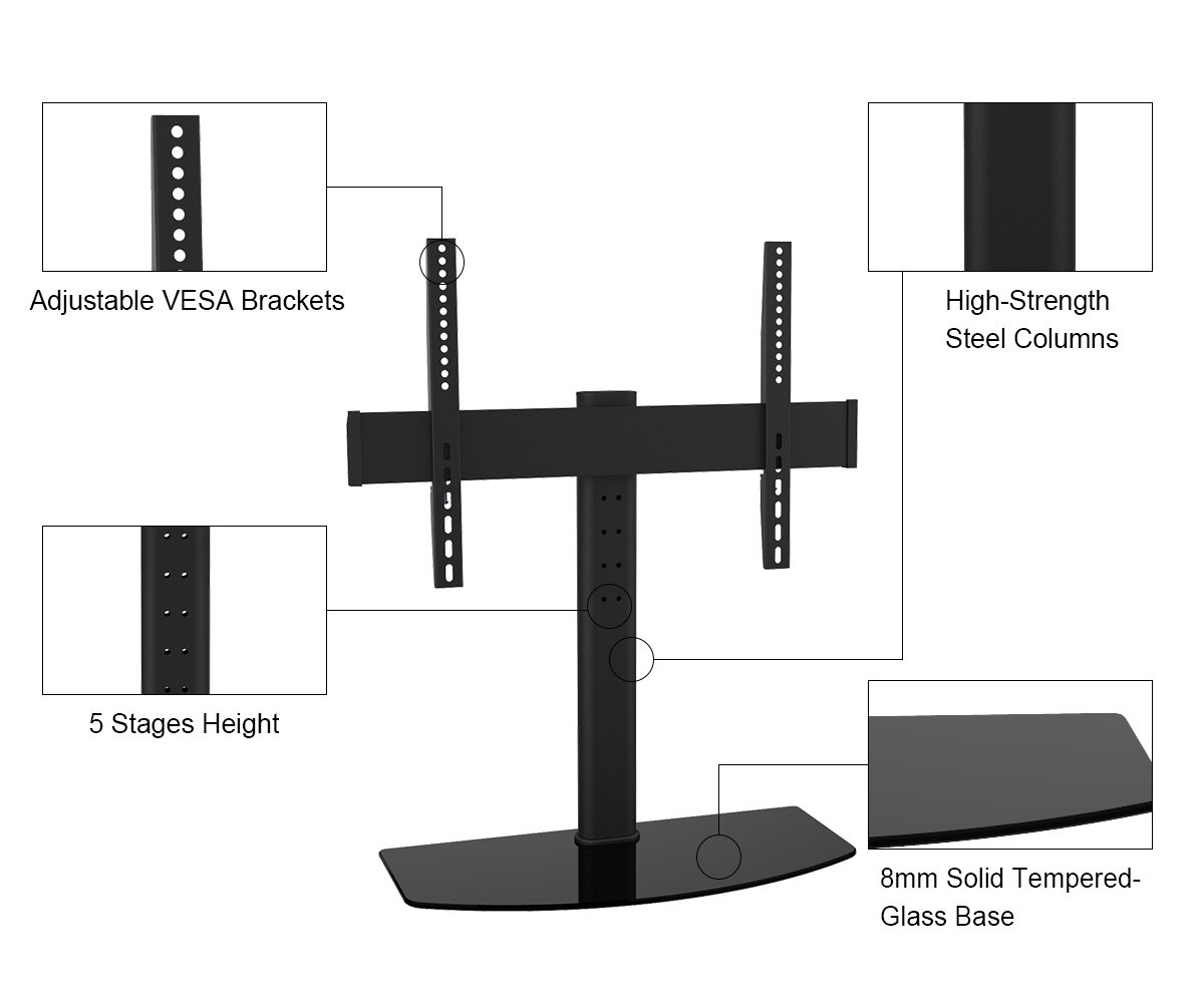 Amazon Com Universal Tv Stand Tabletop Stand 05440a With Tv Wall