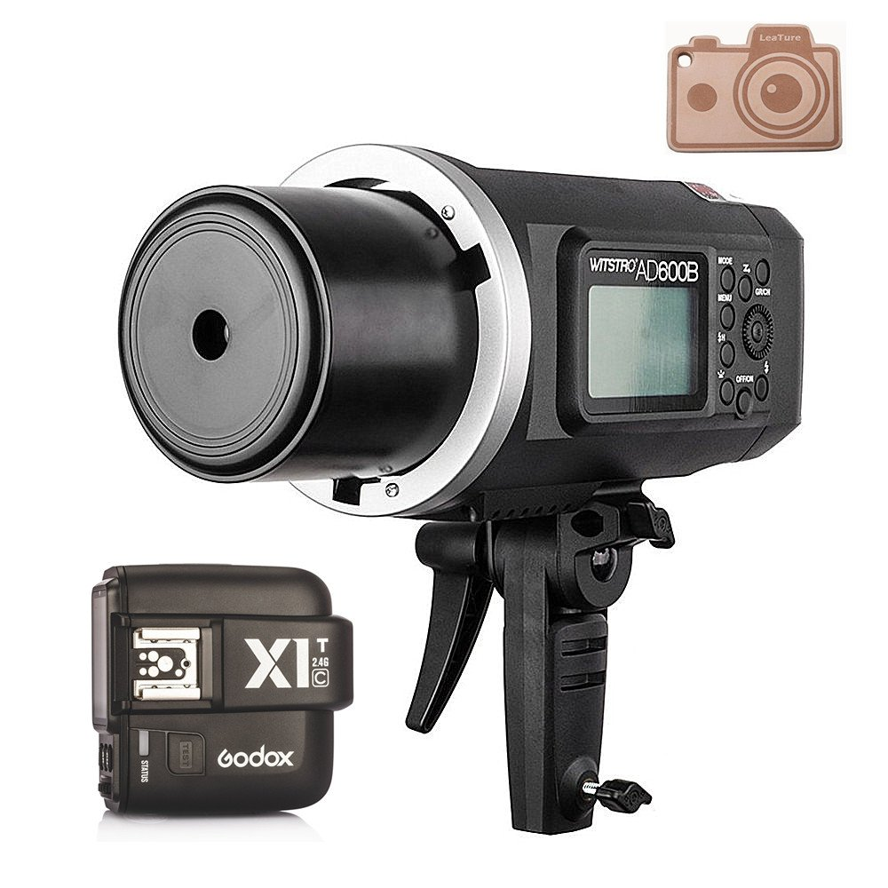 Godox Wistro AD600B TTL All-in-One Powerful Outdoor Flash with 2.4G X System Build-in 8700mAh Li-on Battery with X1T-C Trigger for Canon DSLR Cameras (AD600B+X1T-C)