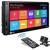 P.L.Z MP-800 Car Entertainment Multimedia System – 7 Inch Double Din HD Touchscreen Monitor Car Stereo – MP5 Player…