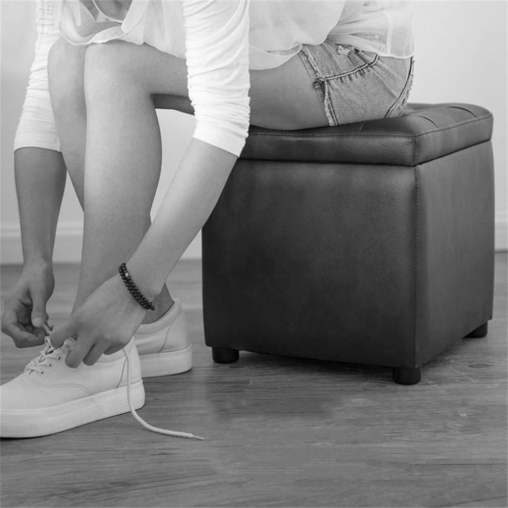 Reposapiés Taburete marrón Cambiar Cambiar Cambiar el Taburete de Zapatos Almacenamiento Toy Box Esponja Altamente elástica Que Llena el Taburete del pie del PVC Asiento portátil para Picnic Asientos versátiles para 5ecb2a