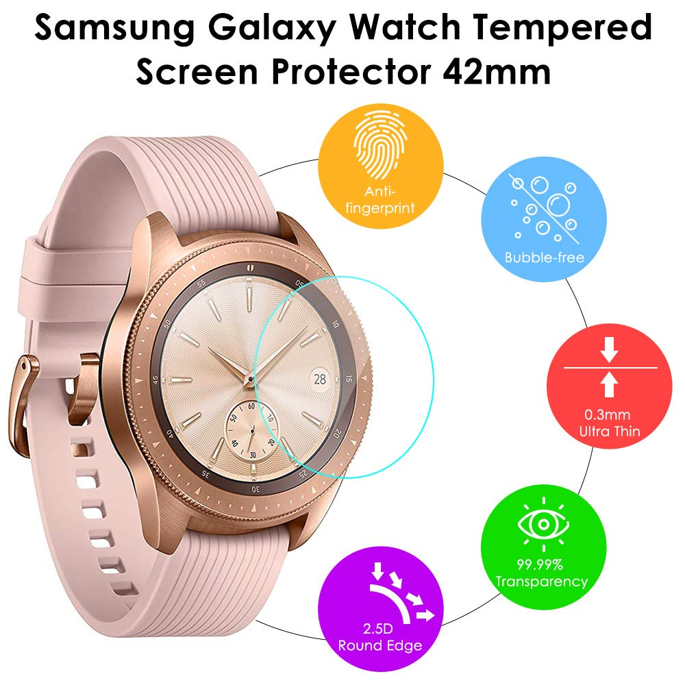KIMILAR Compatible avec Samsung Galaxy Watch 42mm Protection Écran, [3 Pack] Protecteur Décran en Verre Trempé pour Samsung Galaxy Watch (42mm): Amazon.fr: ...