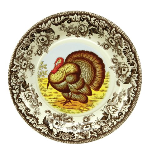 C.R. Gibson Thanksgiving Turkey Decorative Disposable Paper Plates, 8 ct. 10.5'' D -