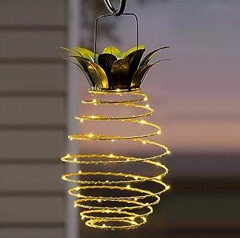 Luces solares Piña, Sallypan Lámparas solares colgantes 25 Lámparas solares LED para jardín Luces de hadas de piña Luces de patio solar(1 Pack): Amazon.es: Iluminación