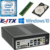 E-ITX ITX350 Asrock H270M-ITX-AC Intel Core i5-7400 (Kaby Lake) Mini-ITX System , 4GB DDR4, 1TB HDD, WiFi, Bluetooth, Window 10 Pro Installed & Configured by E-ITX