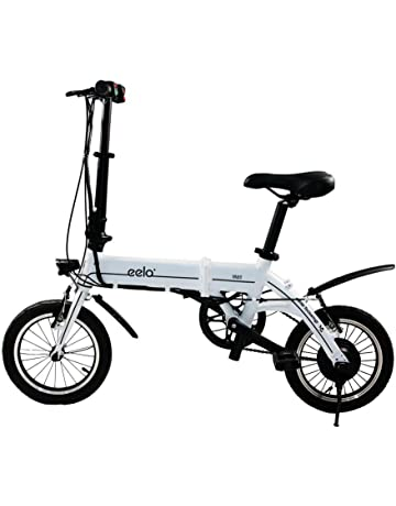 amazon co uk electric bikes Lithium Ion Electric Scooter eelo 1885 disc folding electric bike portable and easy to store in caravan motor