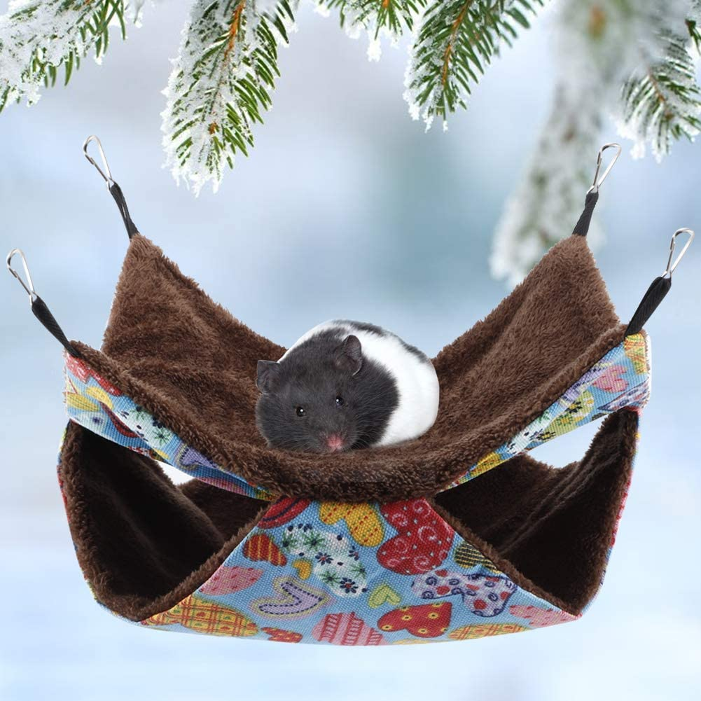 YOUTHINK Warm Small Animal Hammock Cotton Sleeping Nest with Soft Comfortable Luxury Double Layers for Your Samll Pets of Hamster//Parrot//Ferrets