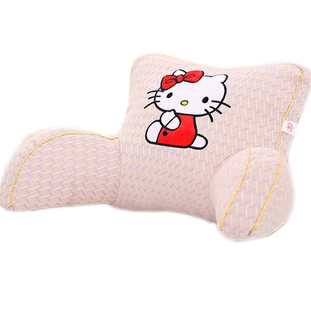 E.a@market Children's Flax Back Cushion Lumbar Pillow Cartoon Pattern (Hello kitty 2)