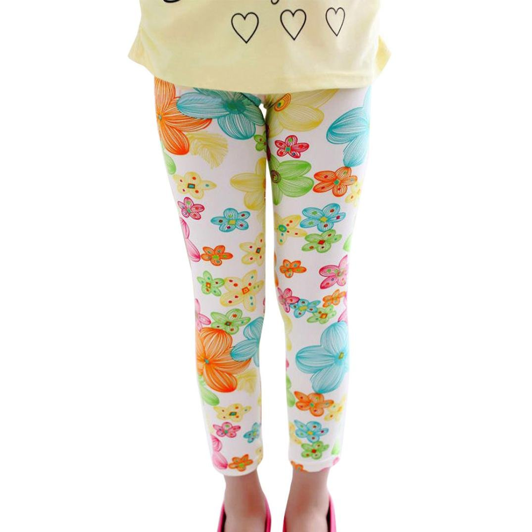 Misaky Girl Pencil Pants Toddler Kids Classic Trousers Leggings for 2-13Years