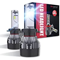 Sinoparcel H7 LED Headlight Bulbs -10000LM 2 Yrs WTY- Halogen Replacement High or Low Beam Light Conversion Kits,Pack of…