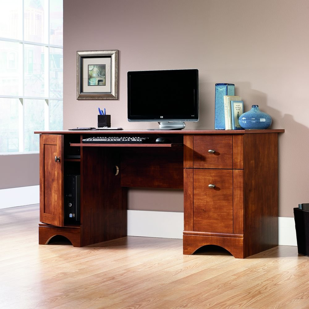 computer desks for home office amazoncom sauder computer desk brushed maple finish kitchen amp dining best desktop for home office