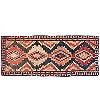 HeSamCrafts, Oriental Floor Carpet, Hand Knotted, 143x53, Runner Kilim Rug, Hallway Rug, Hand Knotted Classic Wool Area kilim Rug, Code : S0102262