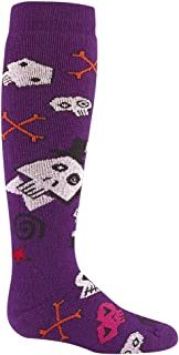product image for Wigwam Kid's Snow Skully Socks, Color: Purple, Size: YL (F2102-452-YL)