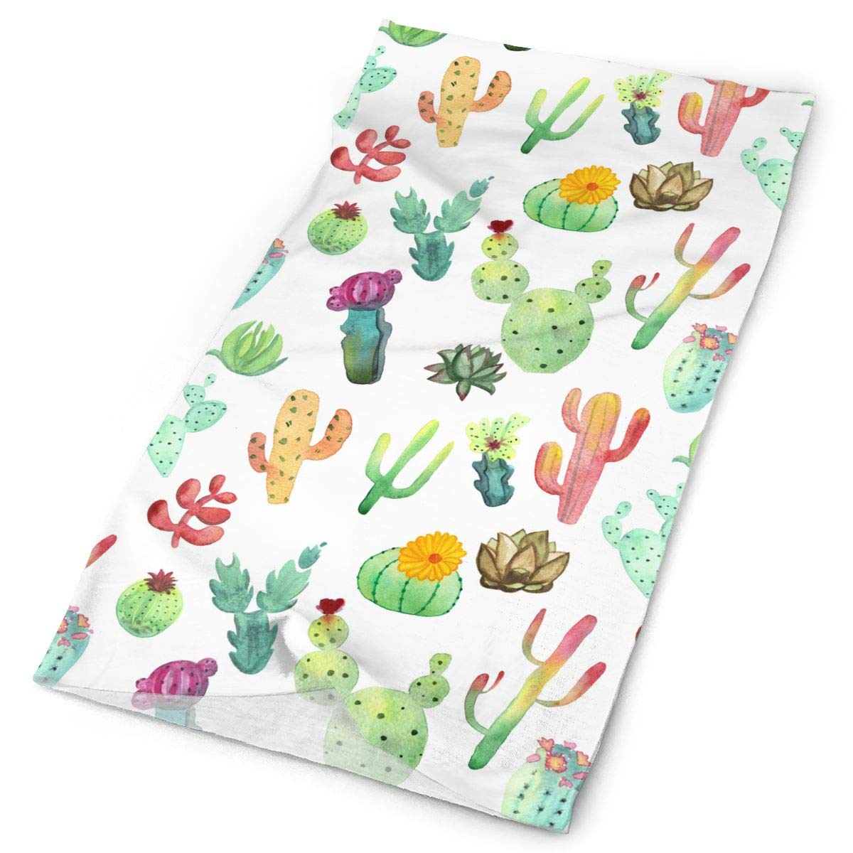 Colorful Vibrant Cactus Unisex Fashion Quick-Drying Microfiber Headdress Outdoor Magic Scarf Neck Neck Scarf Hooded Scarf Super Soft Handle