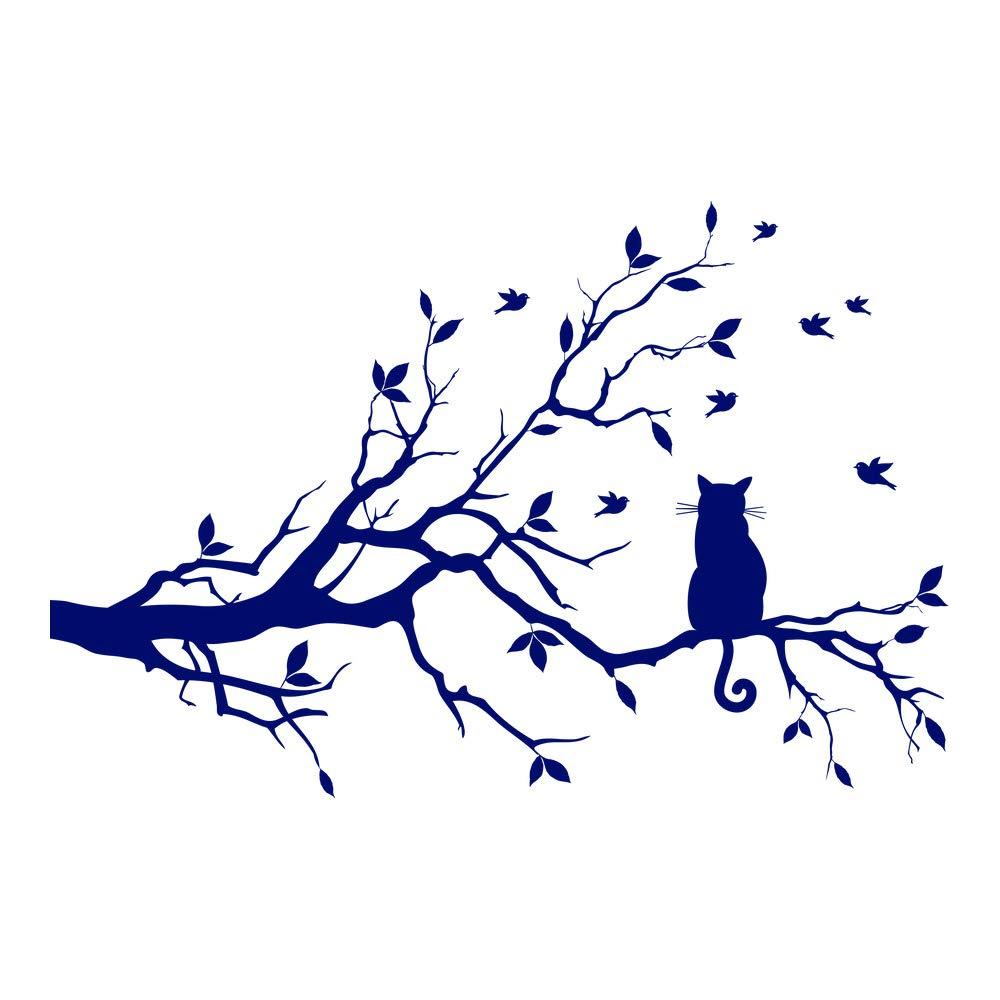 Azutura Schwarze Katze Wandtattoo Ast Wand Sticker Sticker Sticker Wohnzimmer Küche Wohnkultur verfügbar in 5 Größen und 25 Farben X-Groß Basalt Grau B00D93K83O Wandtattoos & Wandbilder 4da05a