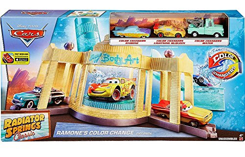 Disney Cars Radiator Springs Classic Ramones Color Change 1:55 Gift Pack (Mattel Toys)