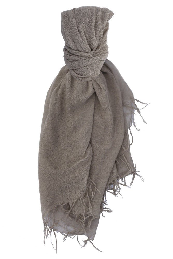 Chan Luu Cashmere and Silk Solid Scarf in Fallen Rock by Chan Luu