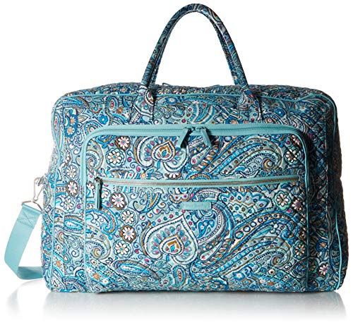 - Vera Bradley womens Iconic Grand Weekender Travel Bag, Signature Cotton, Daisy Dot Paisley, One Size