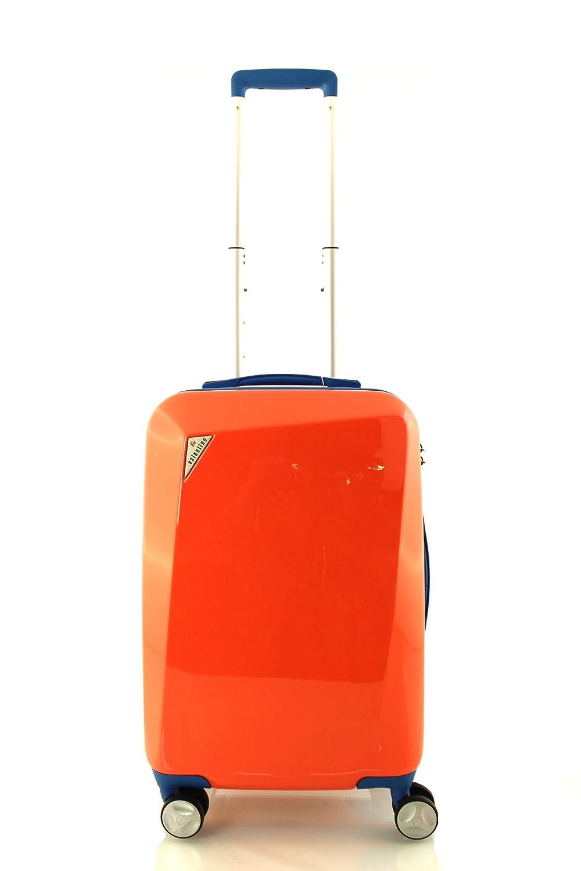 609e324cb65 New Valentino PP Hard Shell 4 Wheel Spinner Suitcase Travel Luggage Trolley  Case (Small, Orange): Amazon.co.uk: Luggage