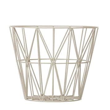 Ferm living wire basket grey large h45 x b60 cm amazon ferm living wire basket grey large h45 x b60 cm amazon kitchen home greentooth Image collections