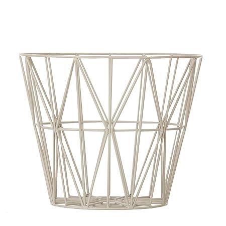 Ferm living wire basket grey large h45 x b60 cm amazon ferm living wire basket grey large h45 x b60 cm greentooth Images