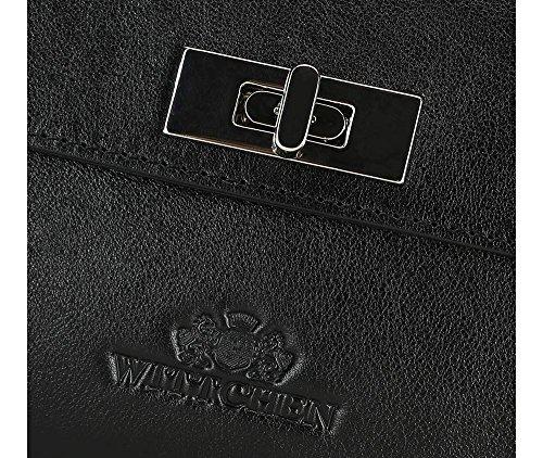 WITTCHEN Borsa classica, Nero - Dimensione: 16x29cm - Materiale: Pelle di grano -Accomoda A4: No - 35-4-585-1