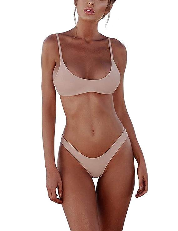 Meizas Bikini Set Swimsuits for Women Low Waist Thong Swimwear Bathing Suits No Rims Swimming Costume