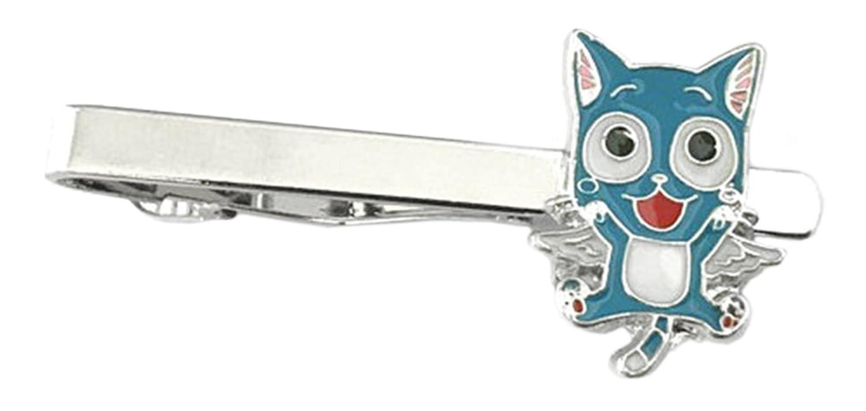 Outlander Anime Mangas - Fairy Tail Happy - Tiebar Tie Clasp Wedding Superhero Logo Novelty Jewelry Series w/Gift Box