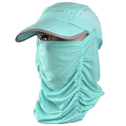 479e7f5b77cfde Amazon.com : Fishing Hat 360°UV Protection Sun Hat, Unisex Anti-UV ...