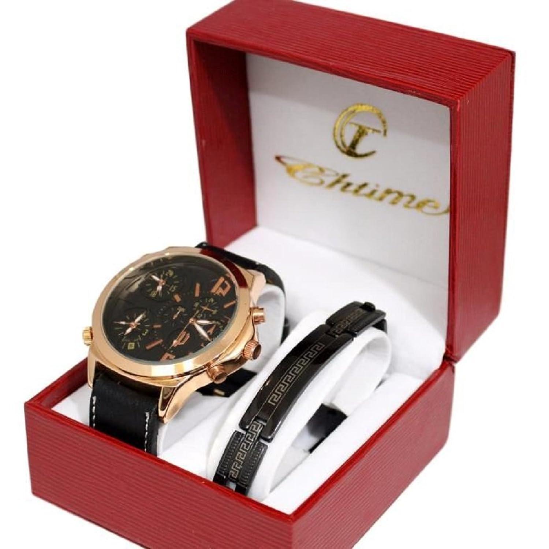 Giorgio & Dario Reloj de pulsera para hombre, caja grande
