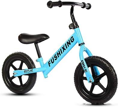 Niño seguro Bicicleta de equilibrio, Mini se deslizan Caminando bicicleta Infantil Bicicleta de entrenamiento deportivo Manija de asiento ajustable Bicicleta de equilibrio para niños Sin pedales-Azul: Amazon.es: Juguetes y juegos