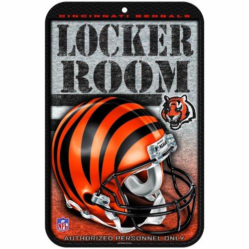 NFL Cincinnati Bengals 11-by-17-Inch Locker Room Sign