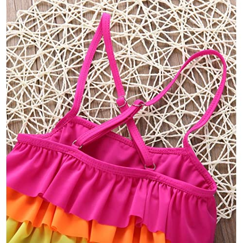 One Persent 2PCS Toddler Baby Girl Sister Matching Swimwear Bikini Set Black Dots Ruffle Top Bottom Summer Holiday Swimwear