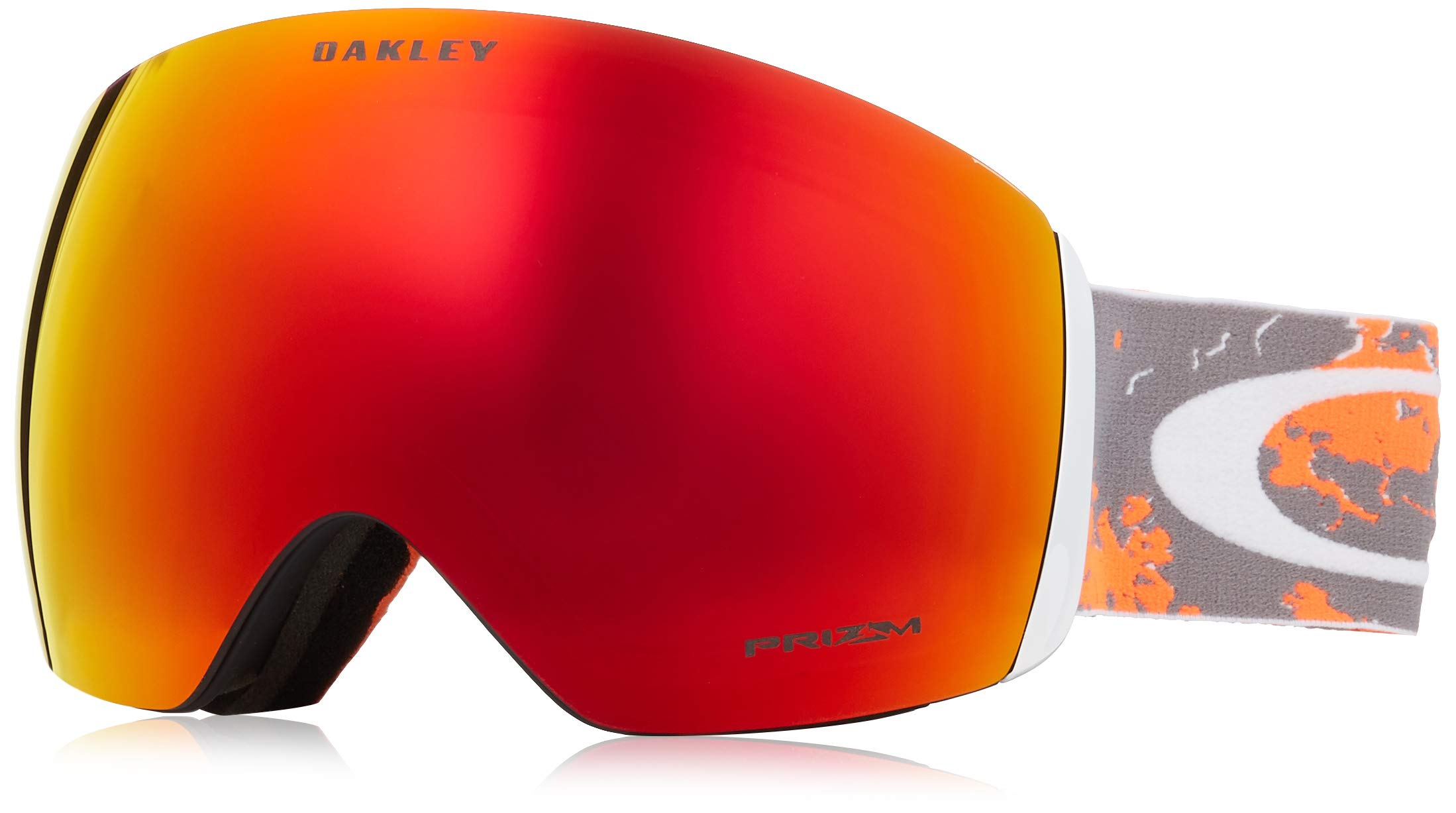 Oakley Flight Deck Snow Goggle, Arctic Fracture Orange, Large