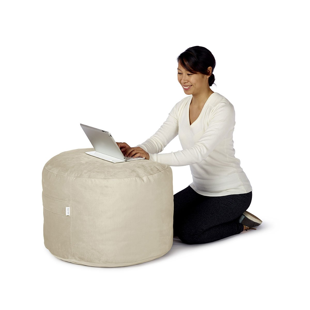 Take Ten Luxury Bean Bag Pouf Ottoman – Multiple Colors / Soft and Comfortable / Doubles as a Foot Rest or Floor Pillow by Take Ten
