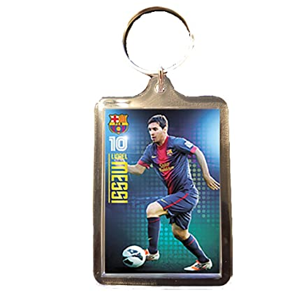 Amazon.com : Footie Gifts F.C Barcelona - Keyring (MESSI ...