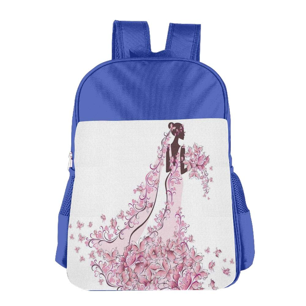 Haixia Youth Boys'&Girls' School Backpack Wedding Decorations Flowers Hearts Butterflies On Wedding Dress Bridal Gown Full Light Pink Maroon White