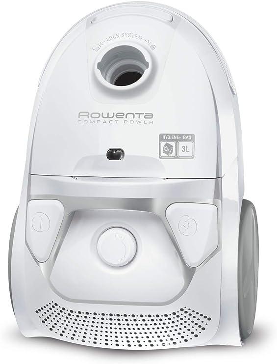 Rowenta Ro3927Ea Compact Power - Aspiradora de Arrastre con Cable y Bolsa, Capacidad 3 L, Potencia 750 W, Color Blanco: Amazon.es: Hogar