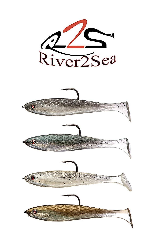 River2Sea リグウォーカー 100アンブレラリグ パドルテール B07M9QQWD7 スイムベイト 釣り餌 リグウォーカー 4インチ 4個パック 100 パドルテール Silverside B07M9QQWD7, サプライズ2:d9095741 --- ferraridentalclinic.com.lb